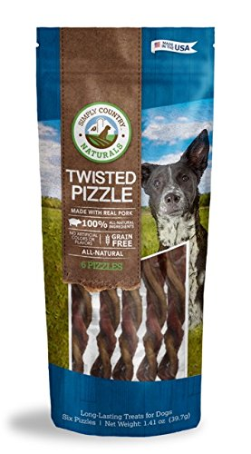 Simply Country Naturals Pork Pizzles for Dogs, - Twisted Natural