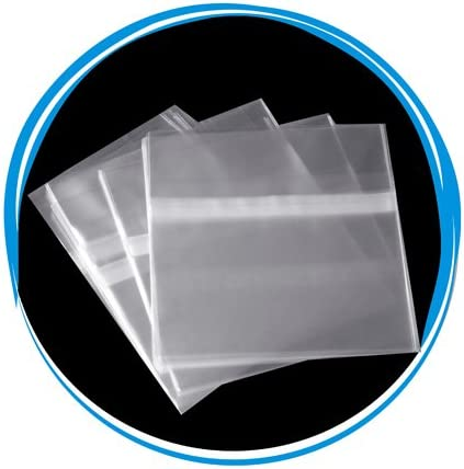 NEW 500 OPP Resealable Plastic Wrap Bags for Standard 5.2mm CD Slim Jewel Case