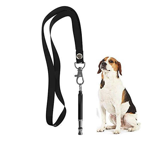Dog Bark Whistle (HEHUI Dog Whistle to Stop Barking, Adjustable Pitch Ultrasonic training tool Silent Bark Control for Dogs- Pack of 1 PCS Whistles with 1 Free Lanyard Strap)