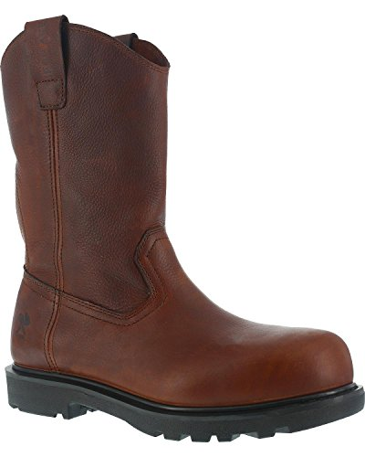Iron Age Men's Hauler Wellington Work Boot Composite Toe Brown 11.5 D(M) US