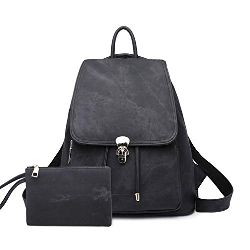 Bags School Backpack Black Black 2Pcs for Set qwfFnvz