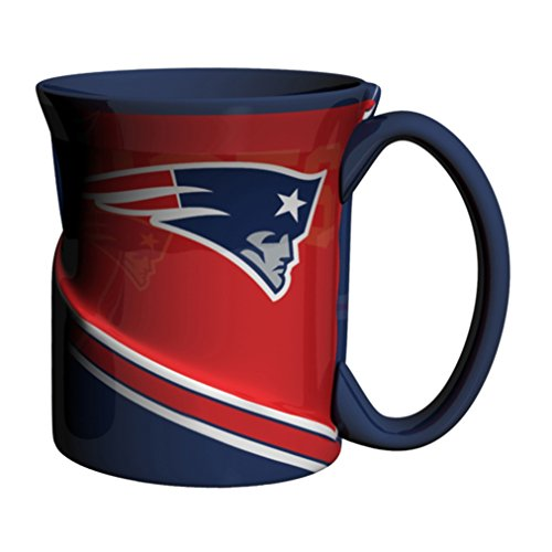 NFL New England Patriots Sculpted Twist Mug, 18-ounce