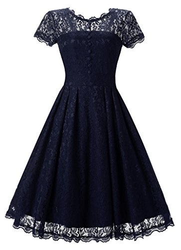 Buy belted lace a line dress - 4