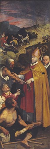 Oil Painting 'Saint Eligius Helps The Lames And Buries The Deads By Ambrosius Francken I' 16 x 47 inch / 41 x 119 cm , on High Definition HD canvas - Sunglasses Roots Canada