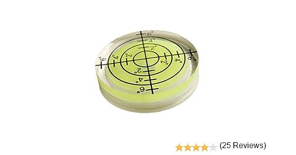 Nivel de burbuja redondo para instrumentos de medición, 32 x 7 mm ...