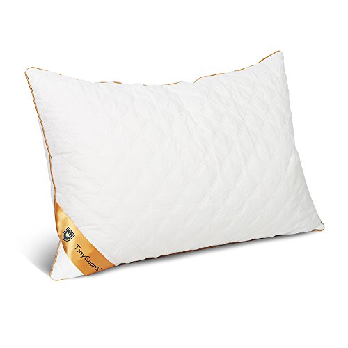 TinyGuards 100% Cotton Pillowcases Pillowcases-Queen,Double Layers,Dust Mite,Bed Pillow Protector with Hidden Zipper,Pure White (Queen-white)