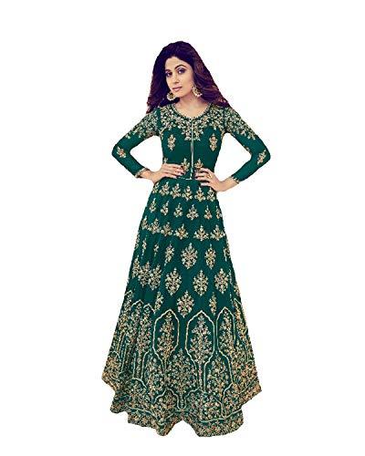 (ziya Heavy Embroidered Designer Anarkali Salwar Kameez Asirwad Tajmahal (Green, L-42))