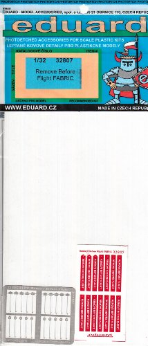 EDU32807 1:32 Eduard Remove Before Flight Flags (Fabric) MODEL KIT ACCESSORY