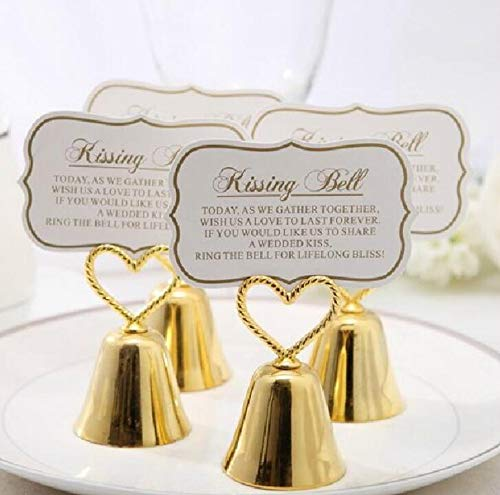 Gold Bell Place Card Holders - cute rabbit Gold Bells Place Card/Photo Holder Wedding Party (20)