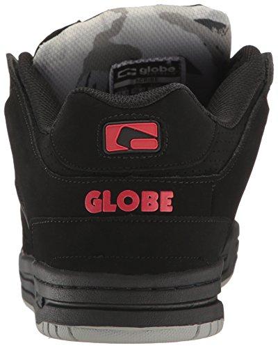 Globe Herren Scribe Skateboard Schuh Schwarz / Schwarz / Rot