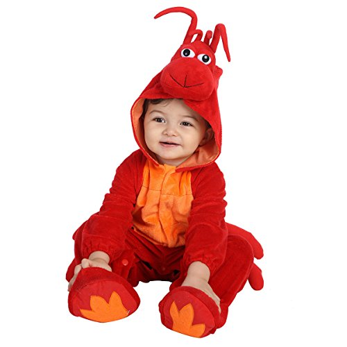 Halloween Lobster Flounder Costume for Baby Girls and Boys - Perfect Cosplay & Theme Party Dress Up Outfit Gift - 5 to 12 (Lobster Costume Halloween)