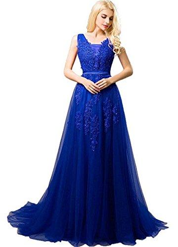 Bridal Evening Dresses Elegant Tulle Lace Applique Long Prom Dress ()