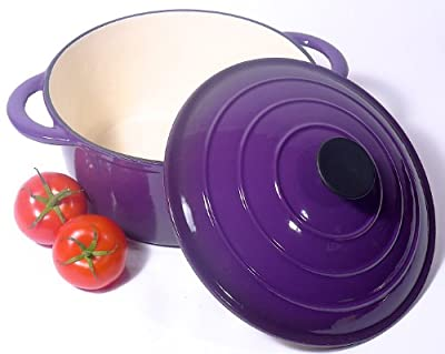 Spiceberry Home Cast-Iron Enamel 5.5-Quart Dutch Oven - Purple
