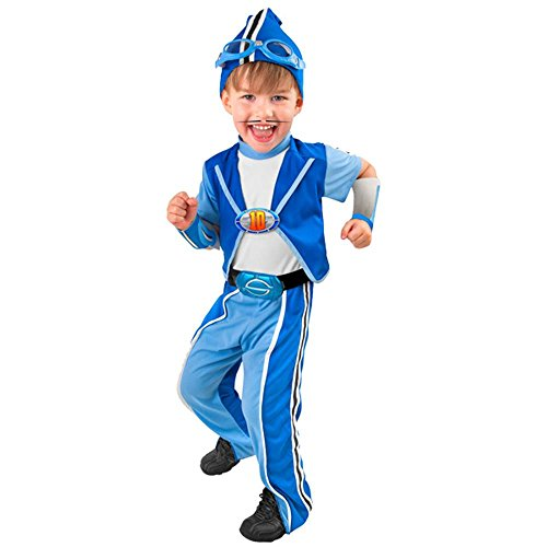 Kid's Deluxe Lazy Town Sportacus Costume (Size: Small 4-6)]()