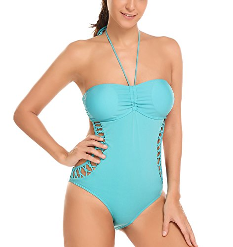 pehie Womens Swimsuits One Piece Hollow Out Monokini Bathing Suit