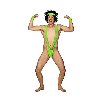 Smiffy's Men's Borat Mankini, Green, One Size
