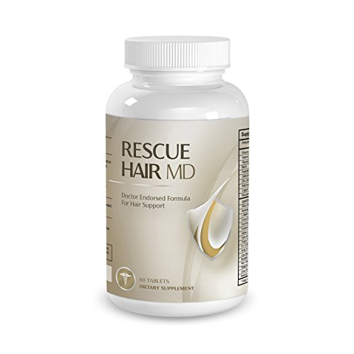 Official Phytage Labs Rescue Hair MD Hair Support Formula - Doctor-Endorsed Natural Growth Supplement with Biotin, Vitamin C, Zinc - 60 Tablets
