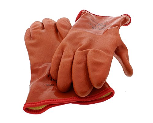 (2 Pairs) Showa Atlas 460 Vinylove Cold Resistant Insulated Gloves-XL