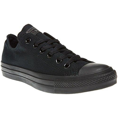 Converse All Star OX - Zapatillas de deporte de lona, unisex Negro (Black Mono Canvas)