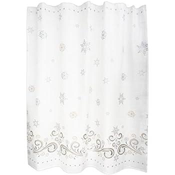 Lenox Snowflake Shower Curtain