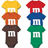 M Candy Costume Cute Halloween Outfit Group Kids Children Humor Baby One Piece 12 Months Red