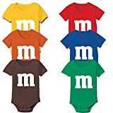 M Chocolate Candy Costume Outfit Funny Group Halloween Set Baby One Piece