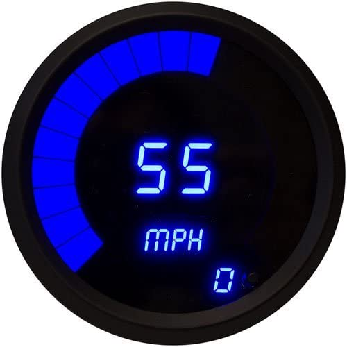 JEGS Performance Products 41283 Speedometer LED Digital 0-60 mph 3-3//8 Diameter