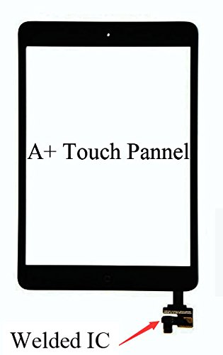 iPad Mini&Mini 2 Model A1432 A1454 A1455 A1489 A1490 Black Digitizer Glass Replacement Digitizer Replacement Screen Replacement Full Assembly Includes Adhesive Stickers and Professional Tools
