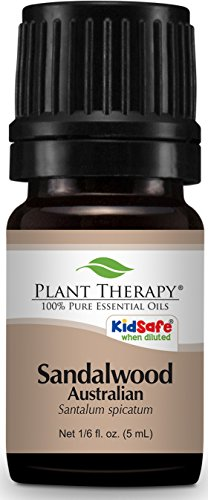 Plant Therapy Sandalwood (Australian) Essential Oil. 100% Pure, Undiluted, Therapeutic Grade. 5 mL (1/6 Ounce).