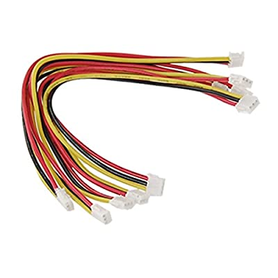 uxcell 5 Pcs CCTV Camera PCB Board Power Video Cable 3P Connector Wire 130mm Terminal