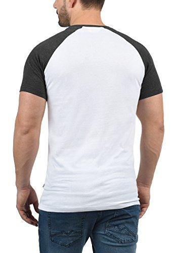 White Bastian Cuello Hombre shirt De T Corta Grey g0001 Con solid Manga Redondo Básica Para Camiseta RdxPpRqO