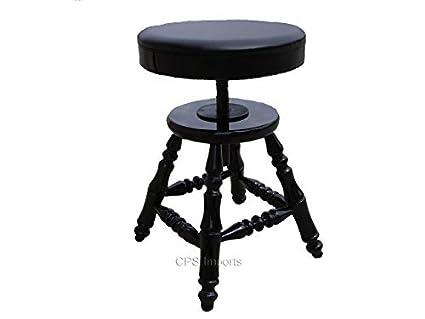 Phenomenal Wood Adjustable Piano Stool Bench Theyellowbook Wood Chair Design Ideas Theyellowbookinfo