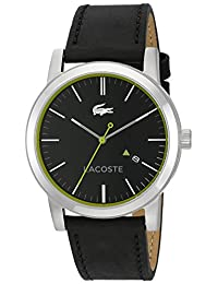 Lacoste Men's 'Metro' Quartz Resin and Leather Casual Watch, Color:Black (Model: 2010847)