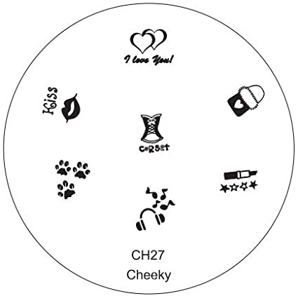 CH27 Professional Nail Art Salon Quality Stamp Template / Stamping Stencil / Image Plate With New Designs By VAGA
