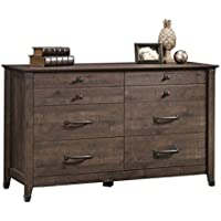 Pemberly Row 6 Drawer Dresser in Coffee Oak