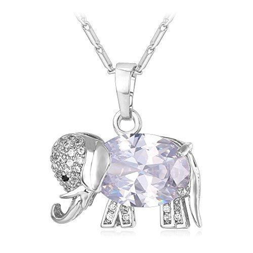 Elephant Pendant Crystal Zirconia Necklaces