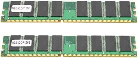 Dubbelzijdig Desktop Geheugenkaart 1 GB Goede Compatibiliteit Geheugen PCB Module 2 Stuks DDR Geheugen Module PC2100 Geheugenkaart DDR Compatibel met AMD