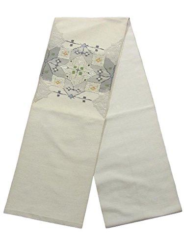 作成するメルボルン批判リサイクル 名古屋帯  紬 幾何学模様 八寸 正絹