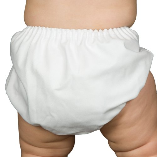 I.C. Collections Baby Boys White Batiste Diaper Cover Bloomers, Size M