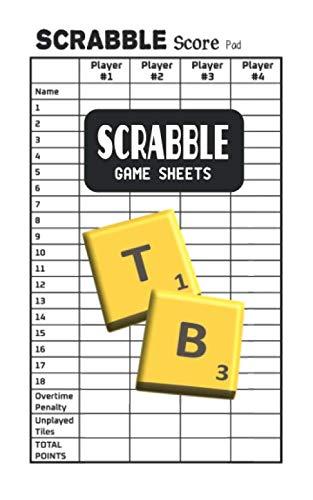 "Scrabble Game Sheets: Scrabble Score Pad Book - Pocket Size 5"" x 8"""