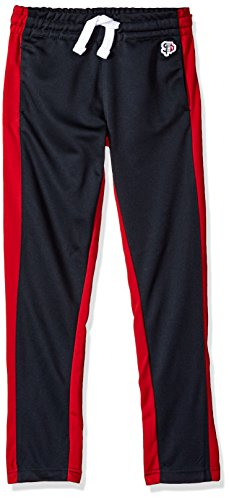 Southpole Boys' Big Athletic Track Pants Open Bottom, Navy, Medium