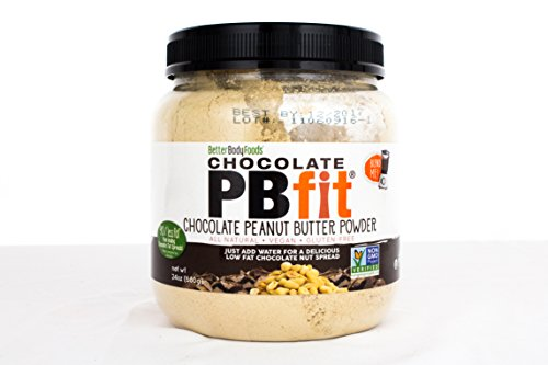 PBfit All Natural Chocolate Peanut Butter Powder 24 Ounce, Chocolate and Peanut Butter Powder from Real Roasted Pressed Peanuts and Cocoa, Low in Fat High in Protein, Natural Ingredients -