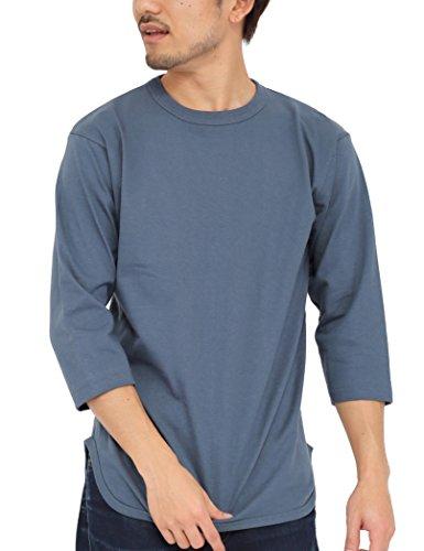 拒否半球アルカトラズ島ティーシャツドットエスティー Tシャツ 無地 七分袖 ベースボールTシャツ 6.2oz メンズ(S M L XL XXL)