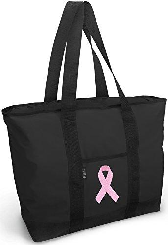 [Pink Ribbon Tote Bag Best Pink Ribbon Totes] (Ribbon Tote)