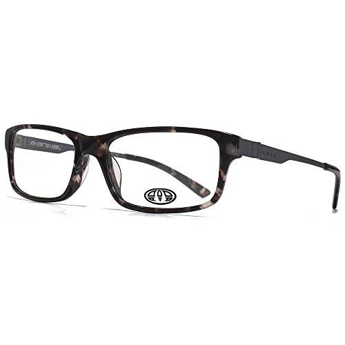 Animal Stokes Carré Rectangle acétate lunettes en écaille noir ANIS003-GRY clear