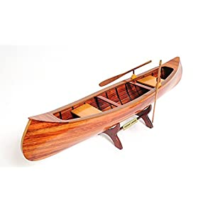 Old New Handicrafts Handicrafts Indian Girl Canoe Collectible