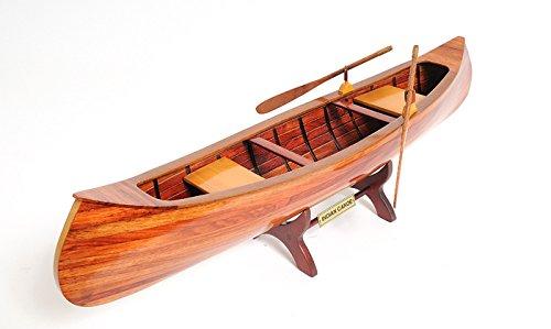 Old Modern Handicrafts Handicrafts Indian Girl Canoe Collectible