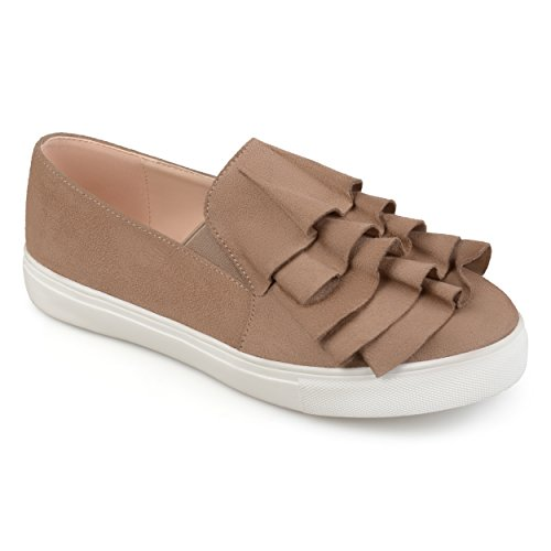 Collezione Journee Womens Sneakers Slip On In Taupe
