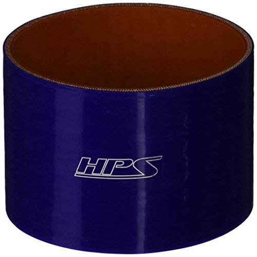 HPS-HTSC-400-BLUE-Silicone-High-Temperature-4-ply-Reinforced-Straight-Coupler-Hose-65-PSI-Maximum-Pressure-3-Length-4-ID-Blue