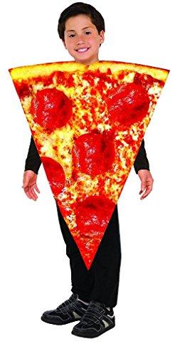 Pizza Girl Halloween Costume (Pepperoni Pizza Slice Kids Child Girls Boys Costume Fast Food Halloween Tunic)
